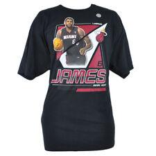 NBA Adidas Miami Heat Lebron James 6 XXL 2XL Camiseta Baloncesto Negro