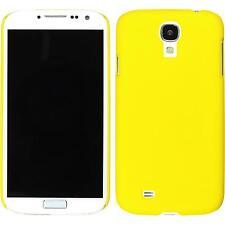 Custodia Rigida Samsung Galaxy S4 - gommata giallo + pellicola protettiva