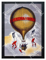 Historic French balloon manufacturer, Henri Lachambre Advertising Postcard