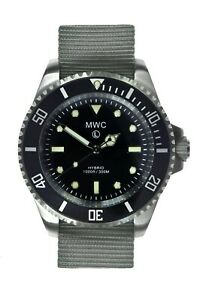 MWC 300m Hybrid Stainless Steel Submariners/Divers with Sweep Seconds Hand