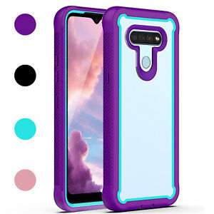 For LG Stylo 6 Heavy Duty Shockproof Rugged Bumper Clear Back Phone Case Cover
