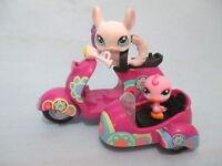 Littlest Pet Shop Blythe Scooter Bike w 2 Random Lps Pet Lot BUY 3 GET 1 FREE