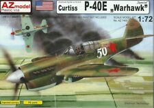 AZ Model 1/72 Curtiss P-40E Warhawk WWII Fighter Special Model Kit 7400 NIB