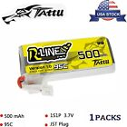 Tattu 500mAh 95C 3.7V 1S Lipo Battery JST-PHR Plug For FPV Happymodel Snapper7
