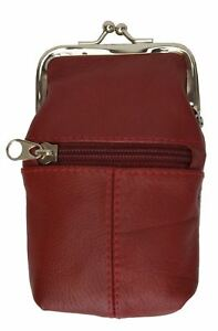 New Design Genuine Leather Cigarette Case Holder and Zipped Lighter Pouch