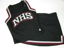 "Real High School Cheerleader Uniform Cheer Outfit Costume 36"" Top 32"" Skirt CDT"