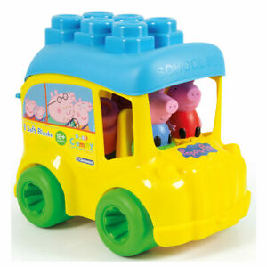 Peppa Pig Clementoni Clemmy Bus with Soft Blocks - Activity Toy For Toddlers