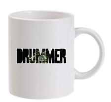 Drummer PERSONALIZZATO TAZZA MUSICA Drumming BIDONI PIATTI musicista da uomo