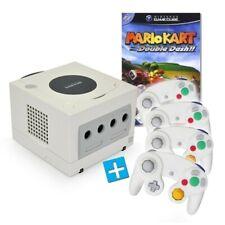 Nintendo GameCube - console #white + Mario Kart + 4 gamepads + equipment