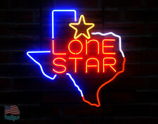 """Texas Lone Star Neon Sign 20""""x 17"""" From USA"""