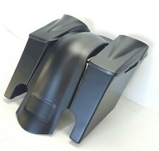 """Dual Cut Out Harley Davidson Flh Stretched Saddlebags ,Fender, 8.8"""" Lids Touring"""