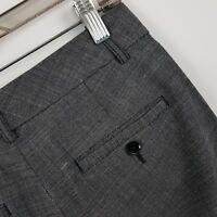 Express Editor Flat Front Charcoal/Gray Women's Career Dress Pants Sz 0r - 28x34