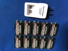 10 of Hitech LiPoly 9v 600mAh(9v NiMh 2~3 times)Rechargeable +ic-9v Charger*SALE