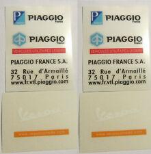 DC24. 2 Decal sheet Piaggio France - Vespa Canada
