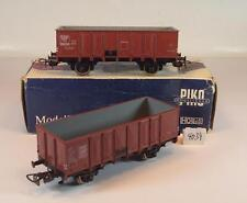Piko H0 2 offene Güterwagen 2-achsig der SAAR /SNCF OVP #4034