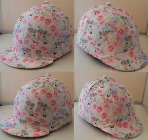 RIDING HAT COVER - MAJESTIC UNICORNS- WITH OR WITHOUT SPARKLE