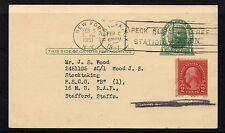 USA = 1951 Stanley Gibbons PTPO 1c Postal Card, NEW YORK to STAFFORD, UK.