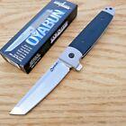 Cold Steel Oyabun Folding Knife 3.5' 4034 Steel Tanto Blade Black Kry-Ex Handle