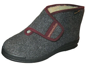 INTERMAX Slippers Chalet Boots House Shoes Touch Fastener Felt & Wool 36-42