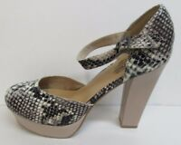 Unlisted by Kenneth Cole Size 8.5 Snake High Heels New Womens Shoes