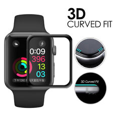 3D Apple Watch Series 3 42mm CURVED FULL COVER Schutzglas VOLLKLEBEND Display