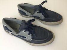 Converse All Star Boat Shoes Navy Charcoal Canvas - Size Men's 9.5, Women's 11