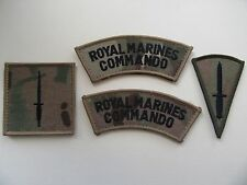Royal Marine Commando vlcro backed MTP unit & qualification patches. New.