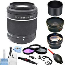Sony 55-200mm f/4.0-5.6 DT Alpha A-Mount Telephoto Zoom Lens PRO BUNDLE NEW