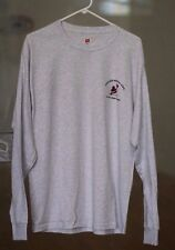 Racquetball Tournament Long Sleeve T-Shirt 99% Cotton Light Grey (mens Large)