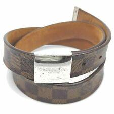 Louis Vuitton Cintura Con Carre Slivertone Fibbia 825240