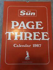 More details for the sun page 3 girls calendar 1987 linda luscardi samantha fox maria whittaker