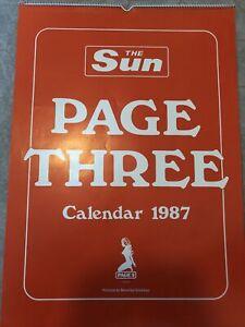 The Sun Page 3 Girls Calendar 1987 Linda Luscardi Samantha Fox Maria Whittaker