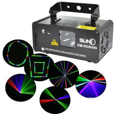 400mW RGB Laser Light Projector Beam Scan Show DJ Party Club Light Lamp w/Remote