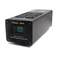 2017 Dual LED Display Audio Power Filter 3000W 15A Purifier Lightning Protection