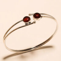 Garnet Lavish Cuff Bangel Silver Plated Gemstone Handmade Fashion jewelry