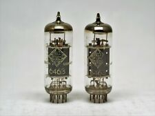 6463 TELEFUNKEN = 2x MATCHED PAIR TUBES with <> from same lot made in germany