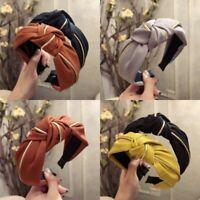 AU Cross Twist Bow Knot Wide Hoop Hair Hairband Headband Women Band Headwear Tie