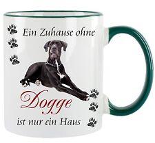 Zuhause ohne Dogge - Kaffeetasse mit Motiv, bedruckte Tasse