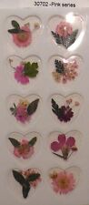 Pink Series Real Pressed Flower Craft Stickers