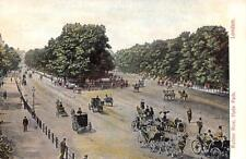 London, Uk England Rotten Row~Hyde Park Horse & Buggies c1910's Postcard