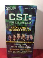 SEALED! 2004 CSI CRIME SCENE INVESTIGATION™ CRIME GAME &  BOOSTER PACK #1