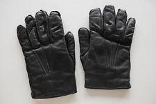 Brooks Brothers vintage fur lined black leather gloves, size S