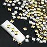 120Pcs Gold Silver Metal Nail Art Tips Fashion Metallic Studs DIY Stickers wheel