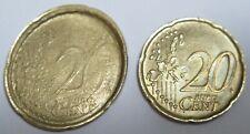 EURO ERRORE DI CONIO ITALIA 20 CENTESIMI CENTS SCARTO MINT STRIKE ERROR ITALY