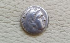 Alexander III the Great Portrait Authentic Ancient Greek Silver Drachm Coin