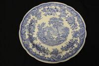 "RARE Vintage Copeland Spode SEVERN Pattern BLUE 10.5"" Dinner Plate, England"