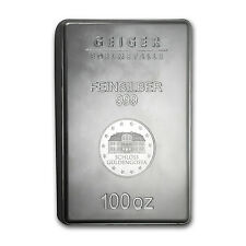 100 oz Silver Bar - Geiger (New Design, Security Line Series) - SKU #83341