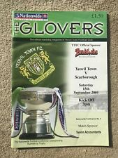 Yeovil Town v Scarborough - Nationwide Conference 2001/02 Programme