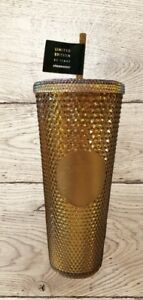 Starbucks 50TH Anniversary 24oz Venti Studded Tumbler Gold/Copper In Hand!!