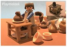 TORNO ALFARERO MINIATURE POTTERY WHEEL POTTER ACCESORIOS PLAYMOBIL NO INCLUIDOS